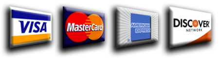 weaccept all major credit cards